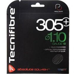 Set Cuerda Tecnifibre 305 + Color Negro (Squash)
