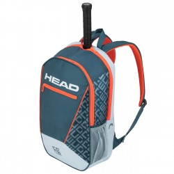 Core Backpack (Grey/Orange)