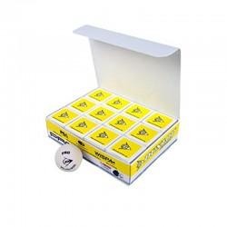 Pelota Dunlop Blanca Un Punto Amarillo Caja Con 12