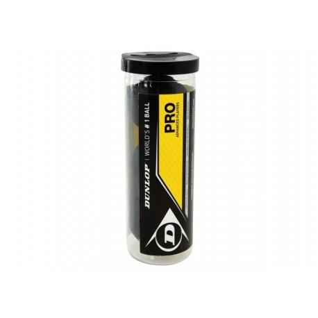 Dunlop Sports Pro XX Squash 3 Ball Tube (Dos puntos amarillos)