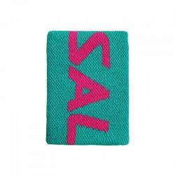 SALMING Muñequera mediana Ceramic Green / Azalea Pink