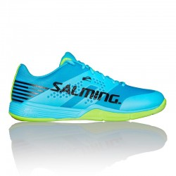 SALMING VIPER 5 SHOE MEN LIGTH BLUE/FLUO GREEN