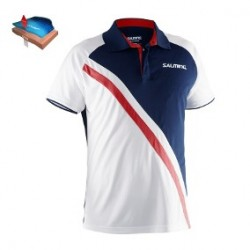 Playera Salming Performance Polo Navy/White