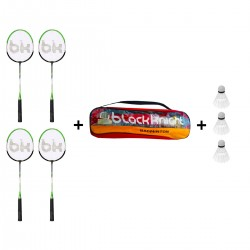 Combo 4 Raquetas BK 235 + Red Badminton y Gallitos