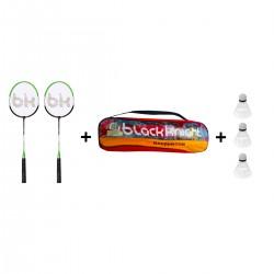 Kit Bádminton 2 Raquetas + Gallos + Red y Accesorios